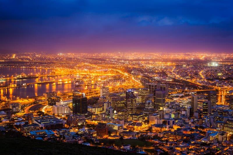 Vista de Cape Town foto de stock