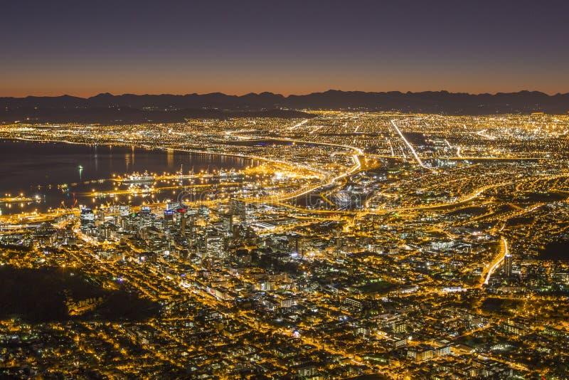 Vista de Capetown África do Sul imagem de stock royalty free