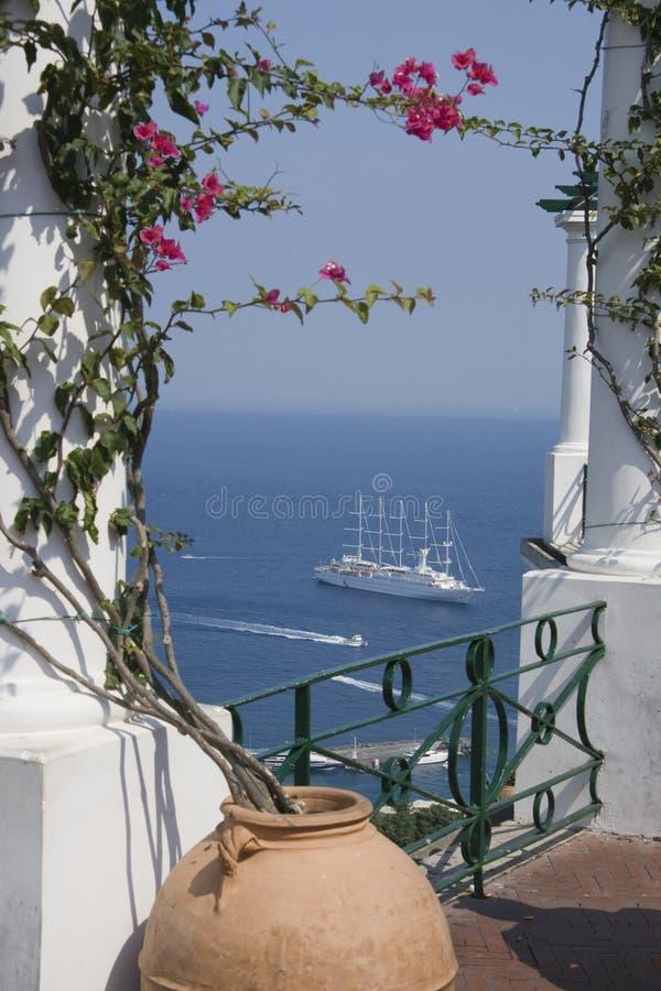 Vista de Capri. foto de stock