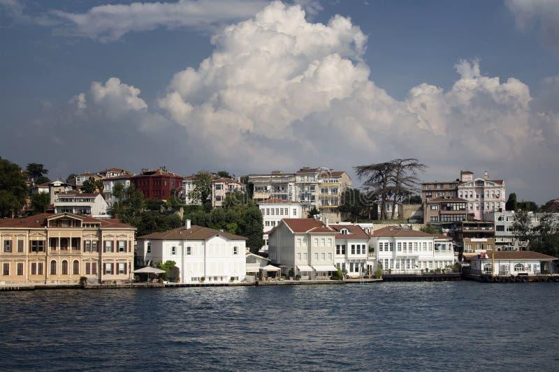 Vista de casas históricas, velhas do turco/otomano fotos de stock royalty free