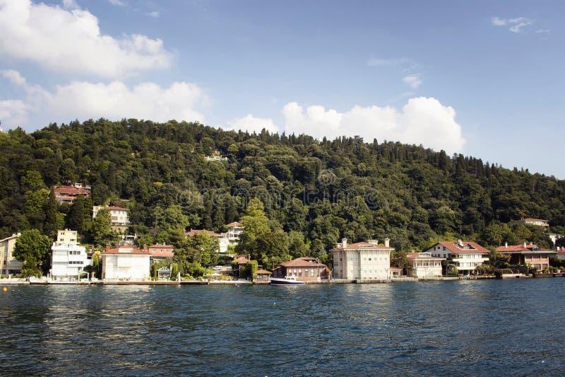 Vista de casas históricas, velhas do turco/otomano fotografia de stock royalty free