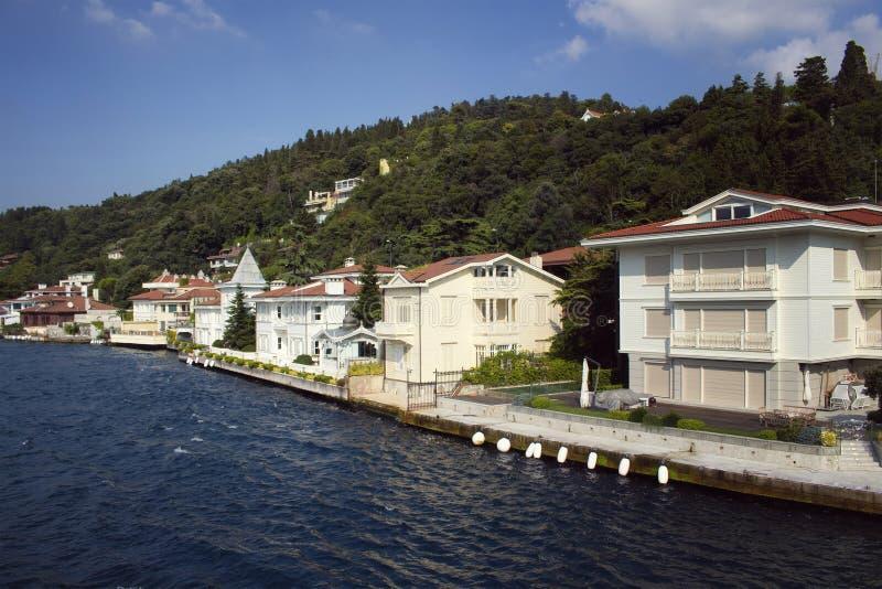 Vista de casas históricas, velhas do turco/otomano imagens de stock royalty free