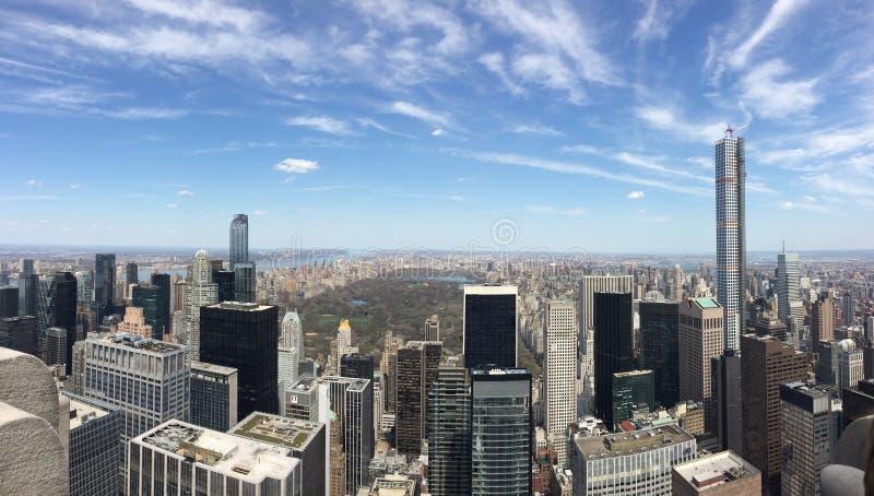 Vista de central park, NY zdjęcia stock