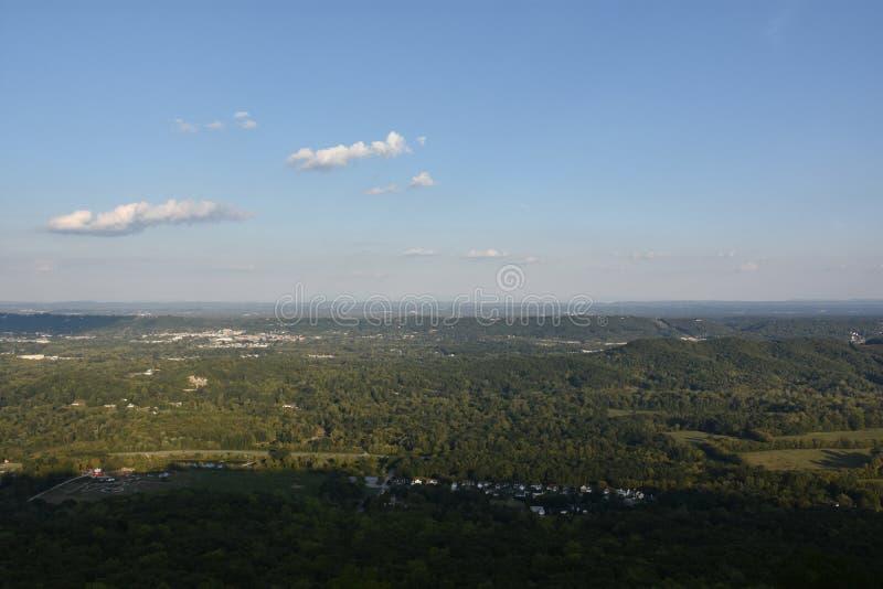 Vista de Chattanooga en Tennessee fotografía de archivo