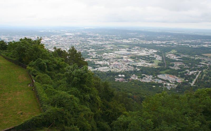 Vista de Chattanooga, Tennessee foto de archivo