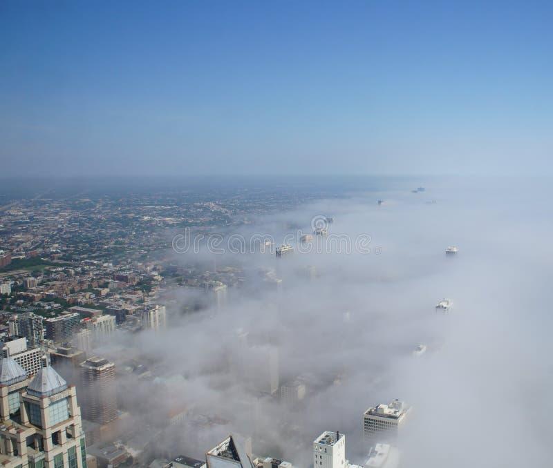Vista de Chicago do obervatório de John Hancock Center foto de stock royalty free