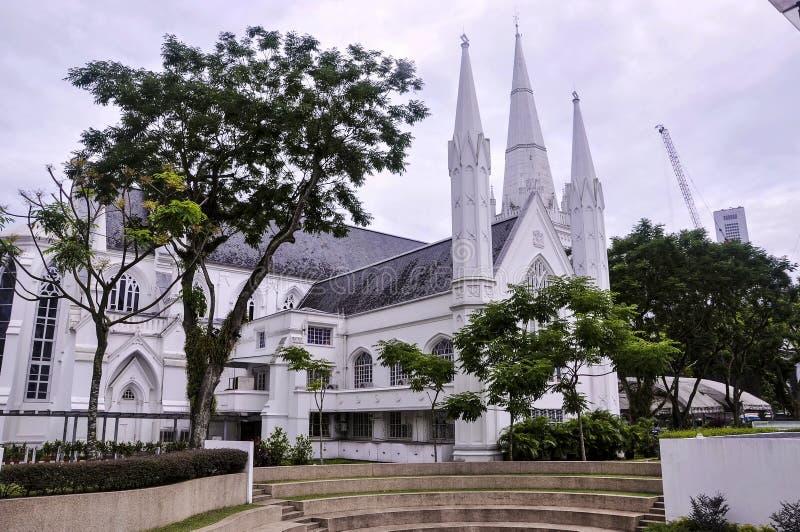 Vista de CHIJMES no dia É um complexo de construção histórica em Singapura fotografia de stock royalty free