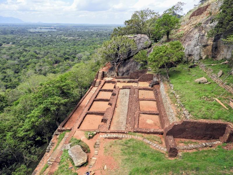 Vista de cima do sigiriya Sri Lanka imagem de stock
