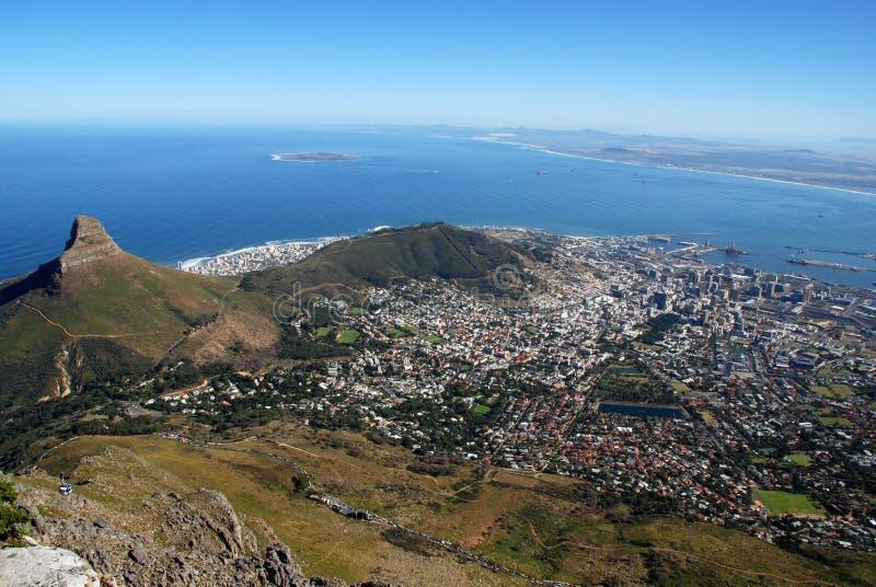 Vista de Ciudad del Cabo imagenes de archivo