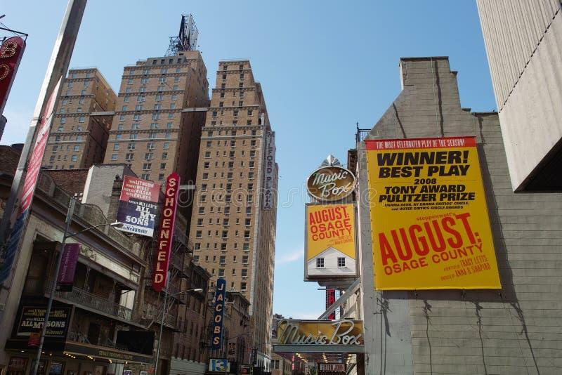 Vista de construções de Broadway imagem de stock