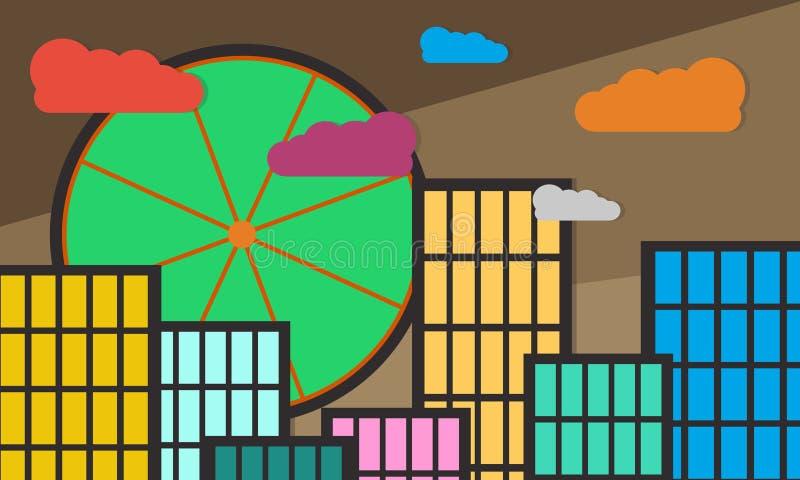 Vista de construções urbanas imagem de stock royalty free