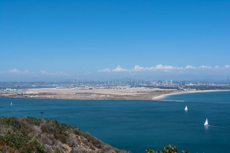 Vista de Coronado del Point Loma, California fotos de archivo