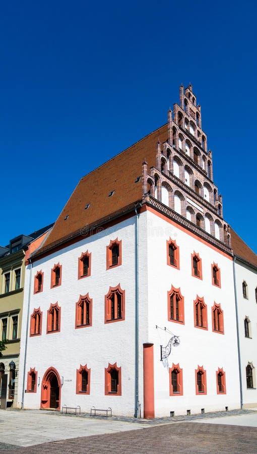 Vista de Dünnebierhaus en la Alemania de Zwickau Sajonia imagen de archivo libre de regalías