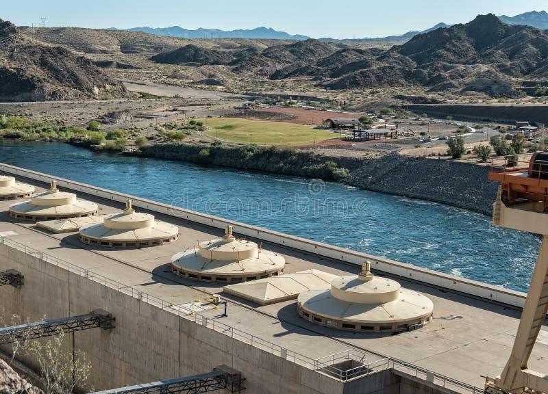 Vista de Davis Dam fotos de stock royalty free