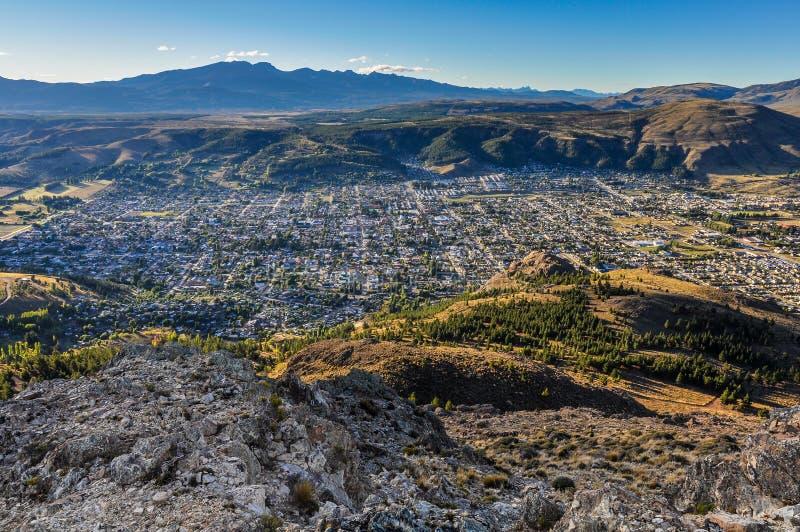 Vista de Esquel, Argentina foto de stock royalty free