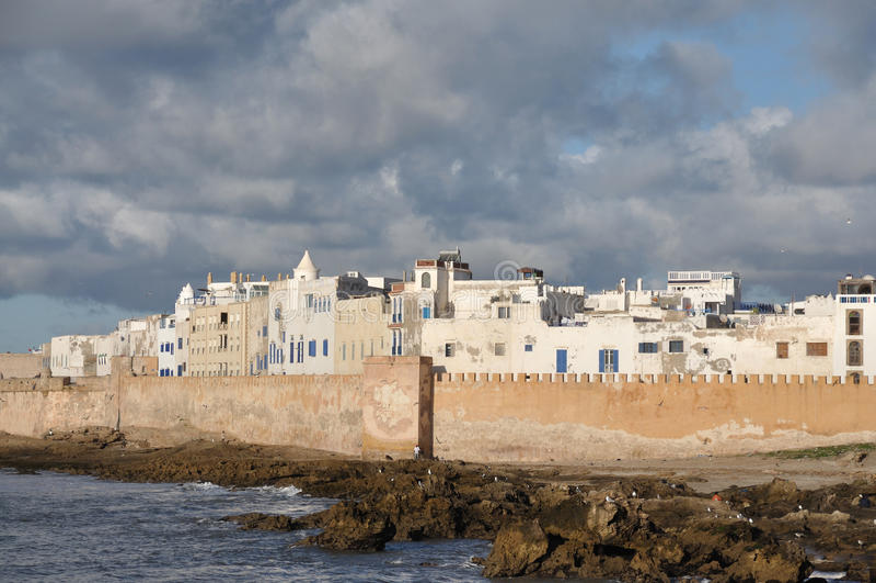 Vista de Essaouira, Marruecos fotos de archivo