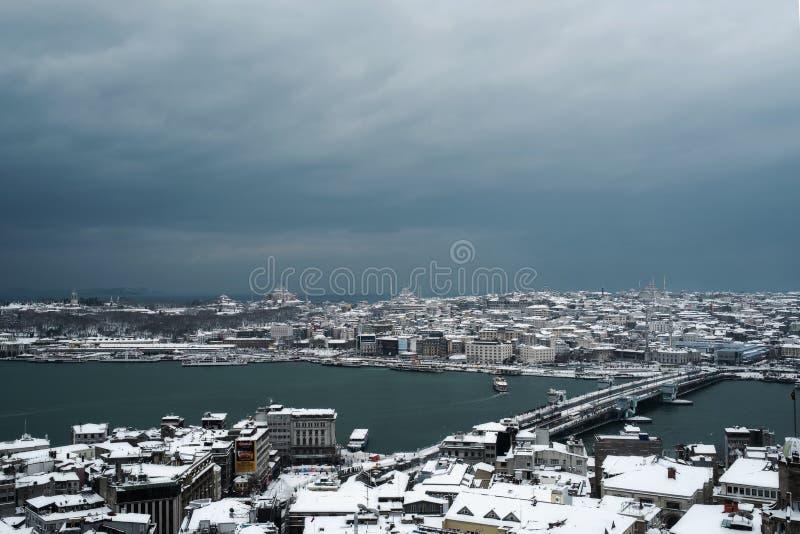 Vista de Estambul de la torre de Galata imagen de archivo