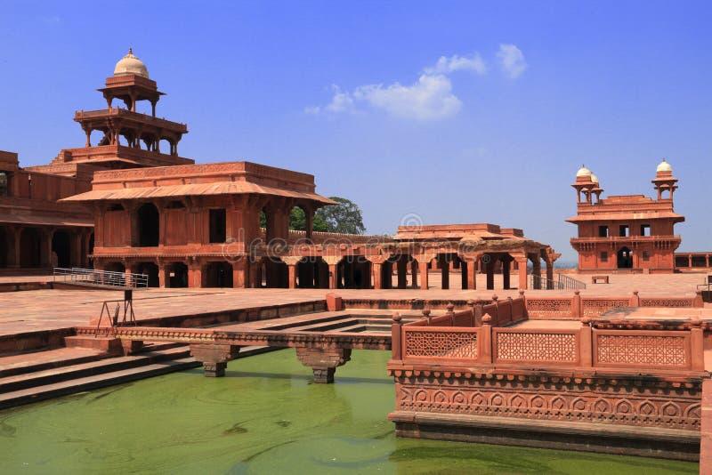 Vista de Fatehpur Sikri, Agra, Uttar Pradesh, la India fotografía de archivo