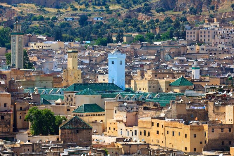 Vista de Fez Medina foto de stock royalty free