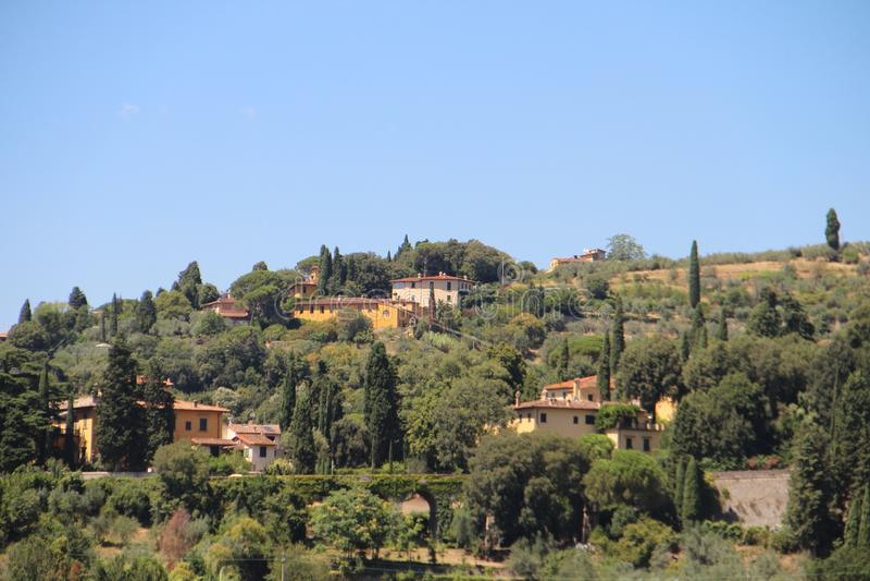 Vista de Fiesole, Itália imagens de stock royalty free
