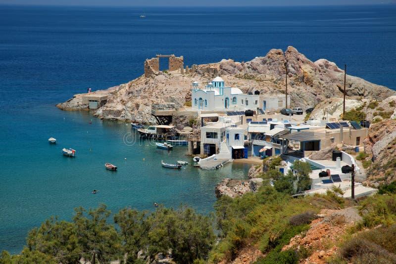 Vista de Firopotamos en Grecia fotografía de archivo libre de regalías