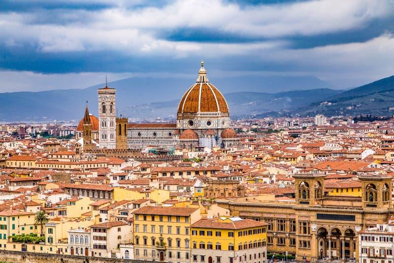 Vista de Florença da cume acima imagem de stock royalty free