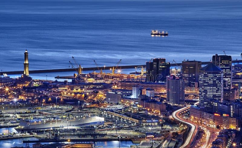 Vista de Genoa, Itália imagens de stock royalty free