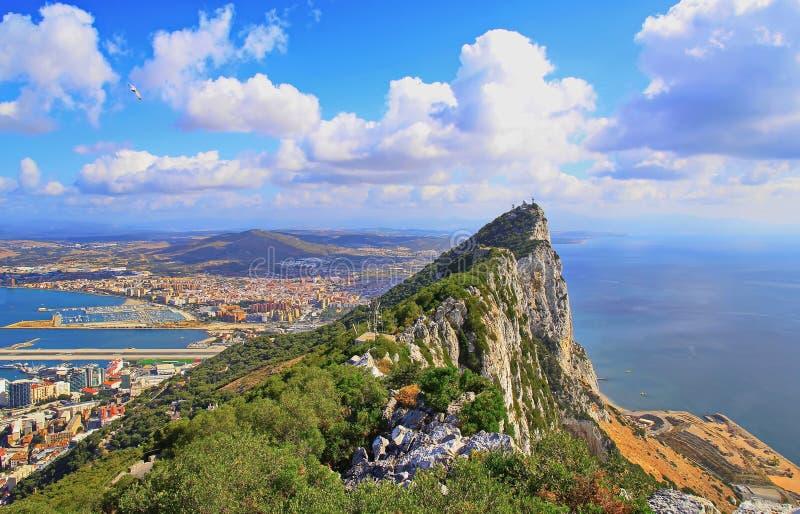 Vista de Gibraltar fotos de stock royalty free