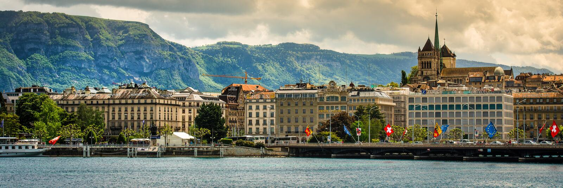 Vista de Ginebra imagen de archivo libre de regalías