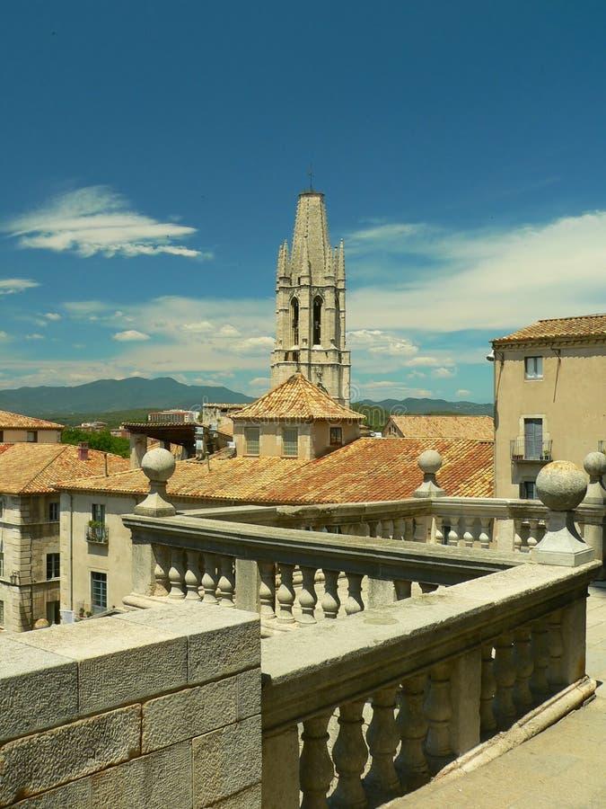 Vista de Girona fotos de stock royalty free
