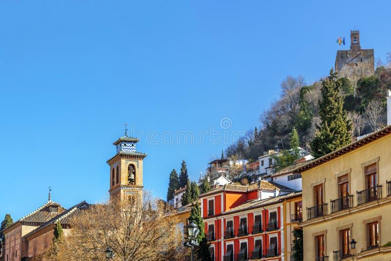 Vista de Granada, a Andaluzia, Espanha foto de stock
