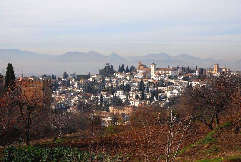 Vista de Granada do Alhambra fotos de stock royalty free