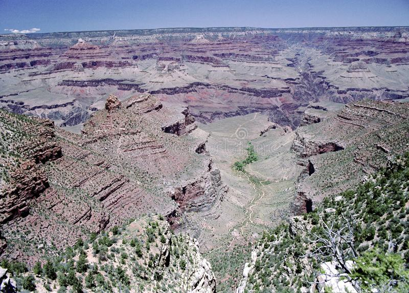 Vista de Grand Canyon no Arizona fotografia de stock royalty free