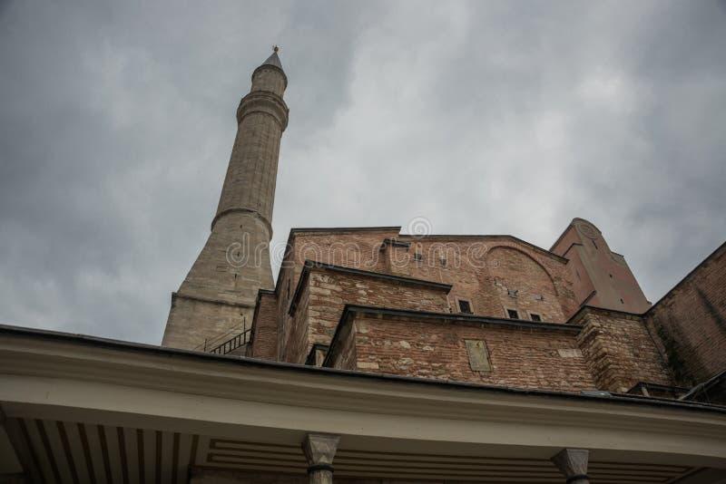 Vista de Hagia Sophia, basílica patriarcal cristã, mesquita imperial e agora um museu Istambul, Turquia imagens de stock royalty free