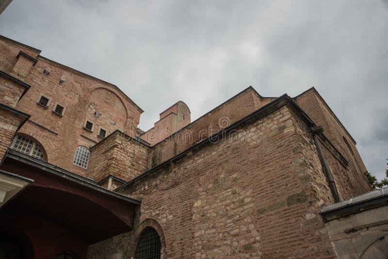 Vista de Hagia Sophia, basílica patriarcal cristã, mesquita imperial e agora um museu Istambul, Turquia imagem de stock