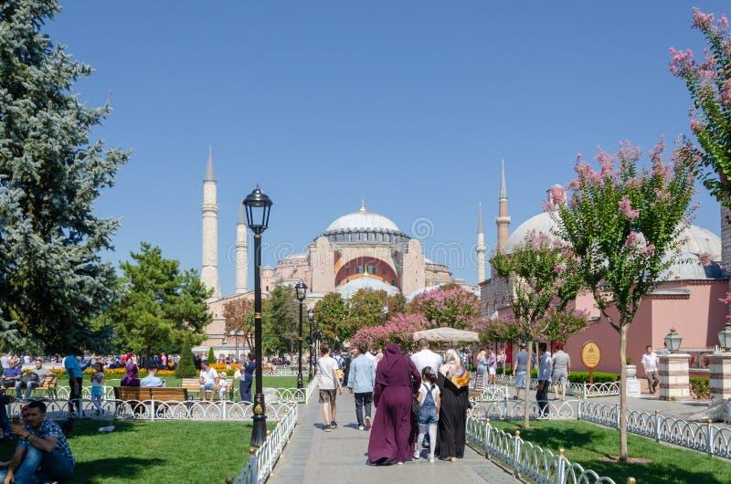 Vista de Hagia Sophia Istambul, Turquia foto de stock royalty free