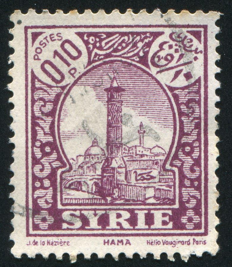 Vista de Hama imagen de archivo