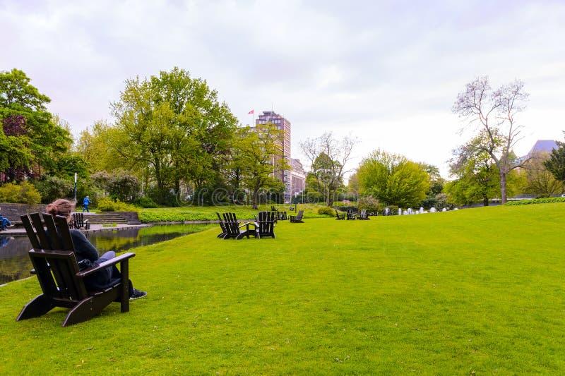 Vista de Hamburgo, Alemania foto de archivo