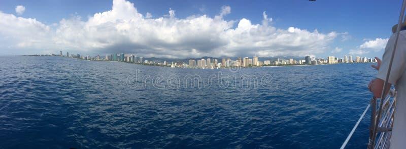 Vista de Hawaii fotografía de archivo