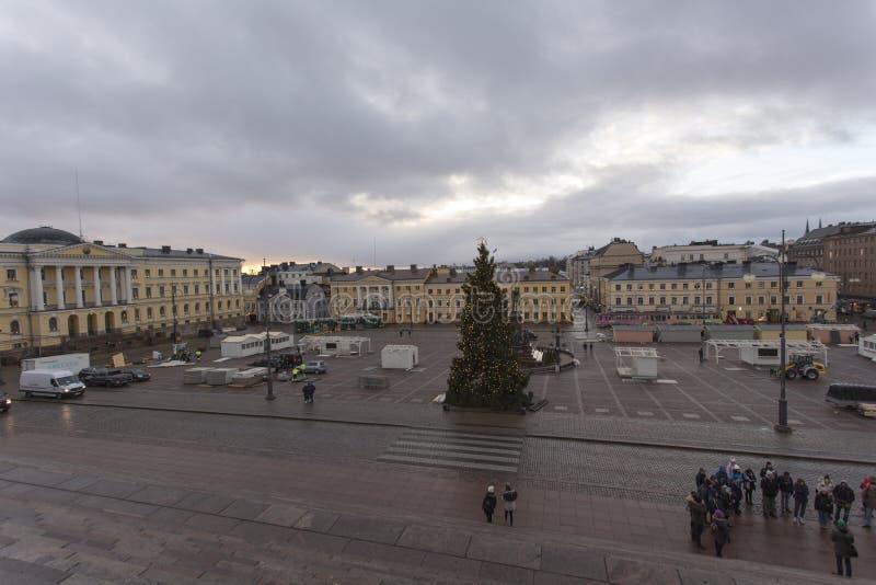 Vista de Helsinki durante un día de invierno imagen de archivo