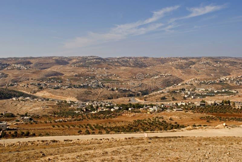 Vista de Herodium, Palestina fotografia de stock