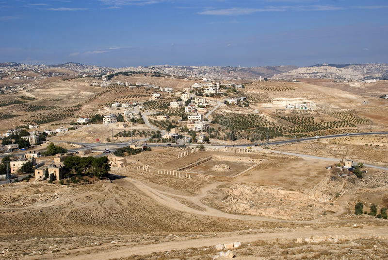 Vista de Herodium, Palestina imagem de stock royalty free