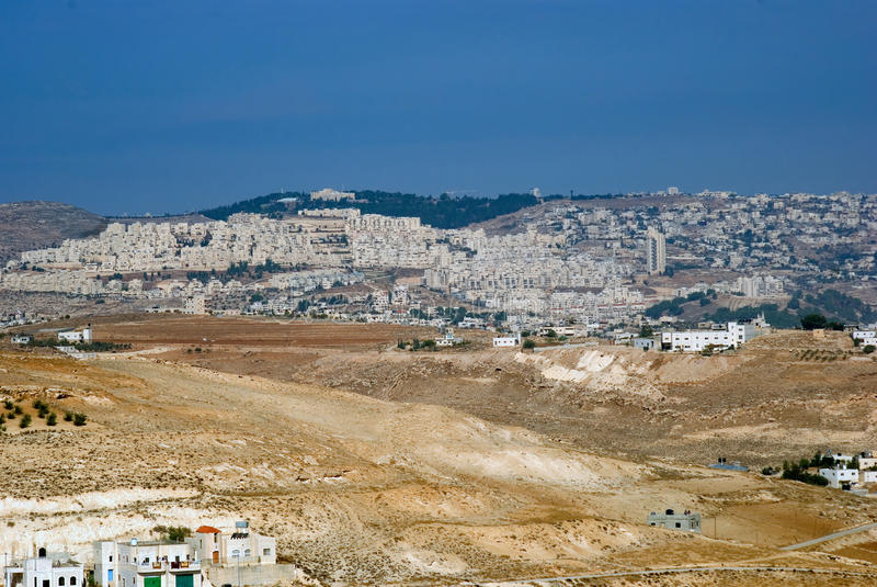 Vista de Herodium, Palestina foto de stock