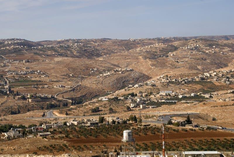 Vista de Herodium, Palestina fotos de stock