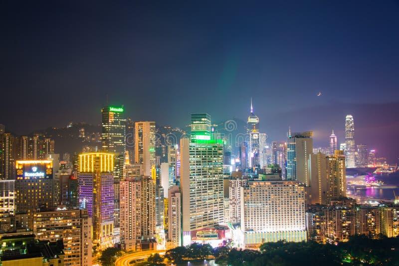 Vista de Hong-Kong foto de archivo