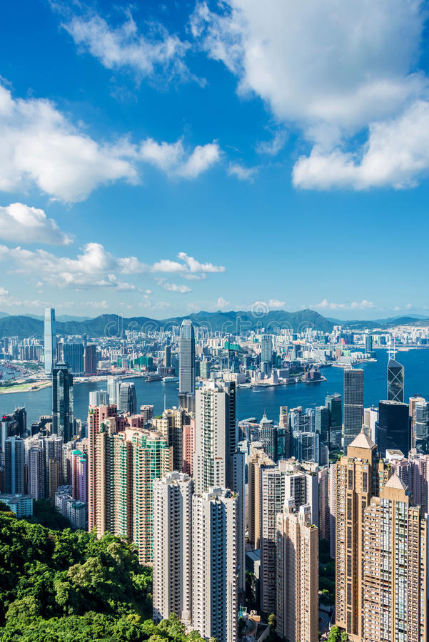 Vista de Hong-Kong foto de archivo libre de regalías