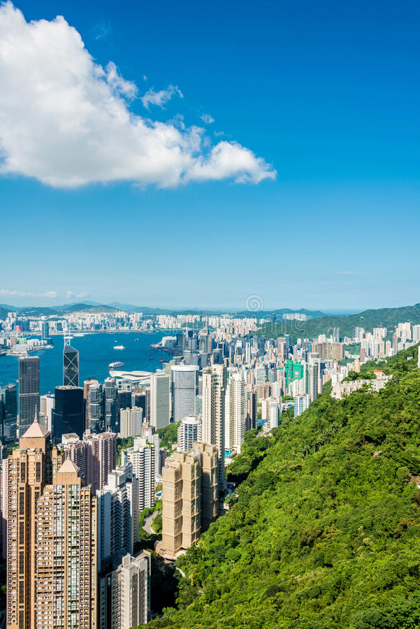 Vista de Hong-Kong fotos de archivo libres de regalías