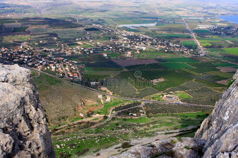 Vista de Israel imagens de stock