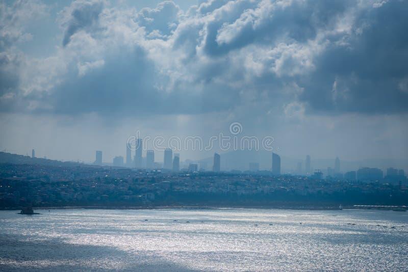 Vista de Istambul da torre de Galata fotografia de stock royalty free