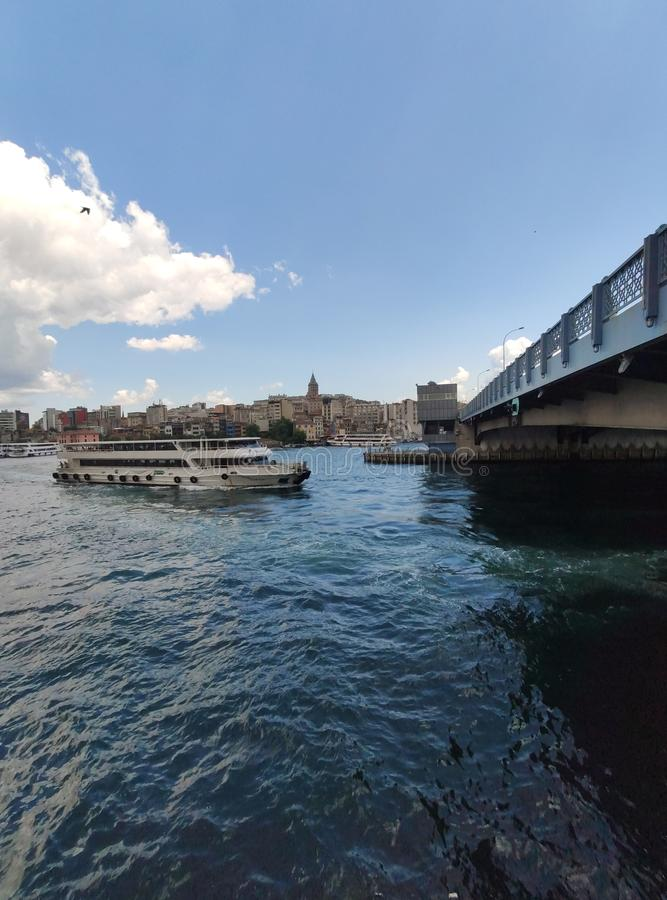 Vista de Istambul do Bosphorus, Turquia imagem de stock royalty free
